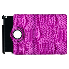 Knitted Wool Square Green Apple Ipad 3/4 Flip 360 Case
