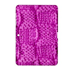 Knitted Wool Square Green Samsung Galaxy Tab 2 (10 1 ) P5100 Hardshell Case