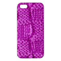 Knitted Wool Square Green Iphone 5s/ Se Premium Hardshell Case