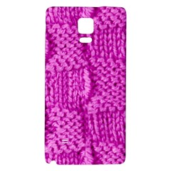 Knitted Wool Square Green Galaxy Note 4 Back Case