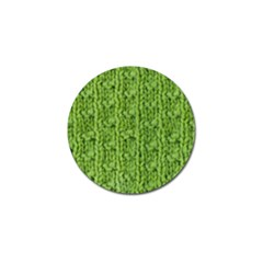 Knitted Wool Chain Green Golf Ball Marker (4 Pack)