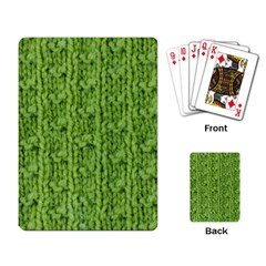 Knitted Wool Chain Green Playing Card