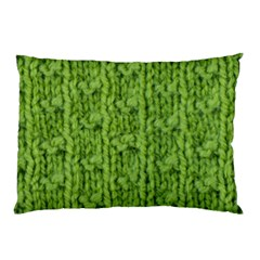 Knitted Wool Chain Green Pillow Case