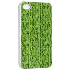 Knitted Wool Chain Green Apple Iphone 4/4s Seamless Case (white)