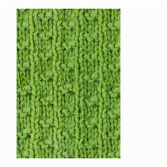 Knitted Wool Chain Green Small Garden Flag (two Sides)