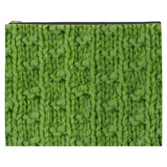 Knitted Wool Chain Green Cosmetic Bag (xxxl)