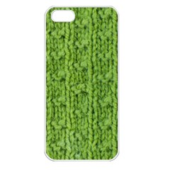 Knitted Wool Chain Green Apple Iphone 5 Seamless Case (white)