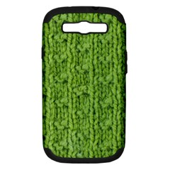 Knitted Wool Chain Green Samsung Galaxy S Iii Hardshell Case (pc+silicone)