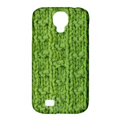 Knitted Wool Chain Green Samsung Galaxy S4 Classic Hardshell Case (pc+silicone)