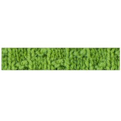 Knitted Wool Chain Green Large Flano Scarf