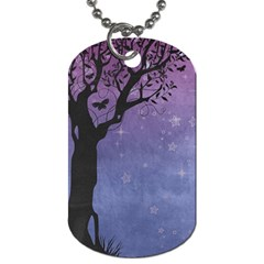 Silhouette Tree Dog Tag (two Sides)