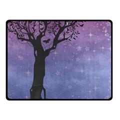 Silhouette Tree Fleece Blanket (small)