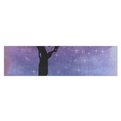 Silhouette Tree Satin Scarf (oblong)