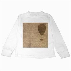 Letter Balloon Kids Long Sleeve T Shirts