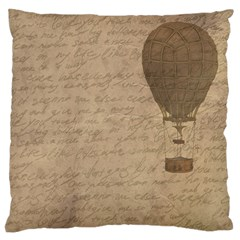 Letter Balloon Large Flano Cushion Case (one Side)