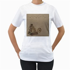 Camera Old Women s T Shirt (white) (two Sided)