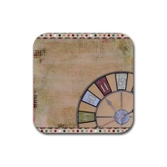 Circle Rubber Square Coaster (4 Pack)