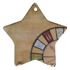 Circle Star Ornament (two Sides)