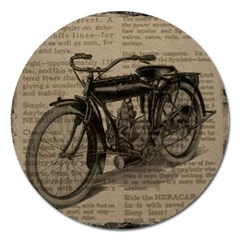 Bicycle Letter Magnet 5  (round)