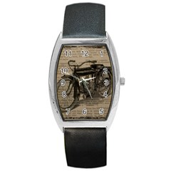 Bicycle Letter Barrel Style Metal Watch