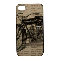 Bicycle Letter Apple Iphone 4/4s Hardshell Case With Stand
