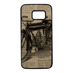 Bicycle Letter Samsung Galaxy S7 Black Seamless Case