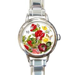 Flower Bouquet 1131891 1920 Round Italian Charm Watch