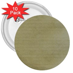 Old Letter 3  Buttons (10 Pack)