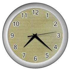 Old Letter Wall Clocks (silver)