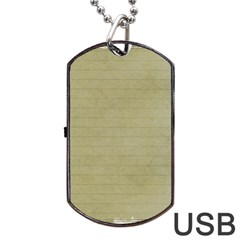 Old Letter Dog Tag Usb Flash (one Side)