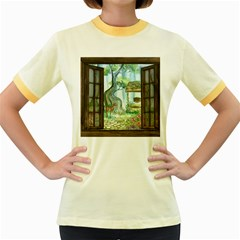 Town 1660349 1280 Women s Fitted Ringer T Shirts