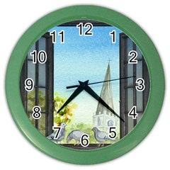 Town 1660455 1920 Color Wall Clocks