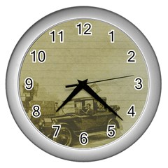 Background 1706642 1920 Wall Clocks (silver)