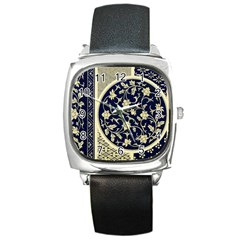 Background Vintage Japanese Square Metal Watch