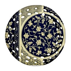 Background Vintage Japanese Round Filigree Ornament (two Sides)