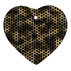 Honeycomb Beehive Nature Heart Ornament (two Sides)
