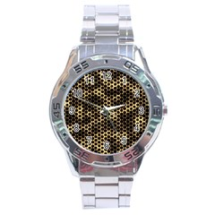 Honeycomb Beehive Nature Stainless Steel Analogue Watch