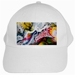 Abstract Art Detail Painting White Cap