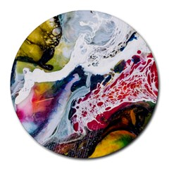Abstract Art Detail Painting Round Mousepads