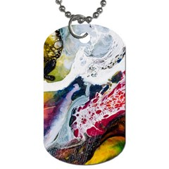 Abstract Art Detail Painting Dog Tag (one Side)