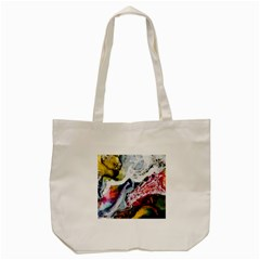 Abstract Art Detail Painting Tote Bag (cream)