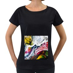 Abstract Art Detail Painting Women s Loose Fit T Shirt (black)