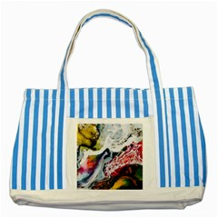 Abstract Art Detail Painting Striped Blue Tote Bag