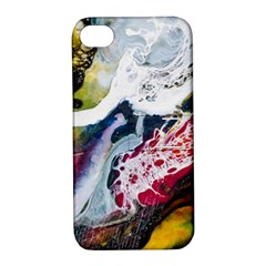 Abstract Art Detail Painting Apple Iphone 4/4s Hardshell Case With Stand