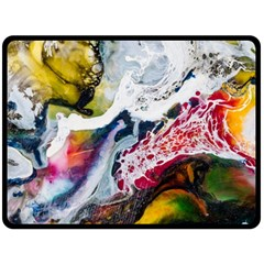 Abstract Art Detail Painting Double Sided Fleece Blanket (large)