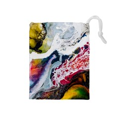 Abstract Art Detail Painting Drawstring Pouches (medium)