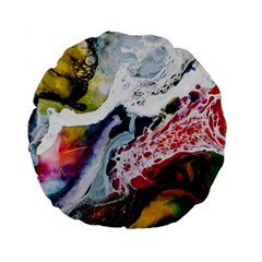Abstract Art Detail Painting Standard 15  Premium Flano Round Cushions