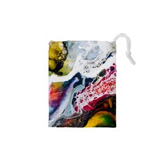 Abstract Art Detail Painting Drawstring Pouches (xs)
