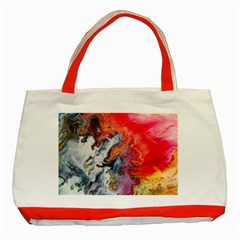 Art Abstract Macro Classic Tote Bag (red)