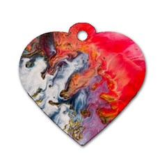 Art Abstract Macro Dog Tag Heart (one Side)